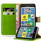 Cadorabo Coque pour Nokia Lumia 625 en Vert PRÈ - Housse Protection avec Fermoire...