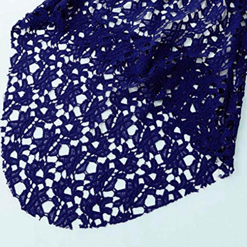 Longra Robe irrégulière à encolure en laine féminine à encolure en laine féminine Bleu