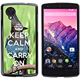 Print Motif Coque de protection Case Cover // Q01014393 keep calm and carry on 682 // LG Nexus 5
