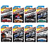 Hot Wheels Fast and Furious Complete Set (set of 8) 1:64 Diecast...