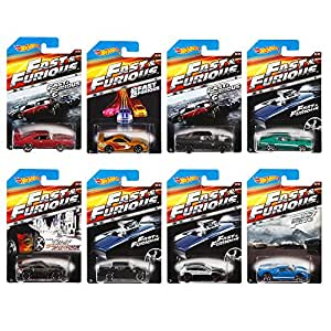 Hot Wheels Fast and Furious Complete Set (set of 8) 1:64