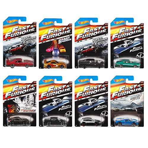 Hot Wheels Fast and Furious Complete Set (set of 8) 1:64 Diecast Collection by Hot Wheels