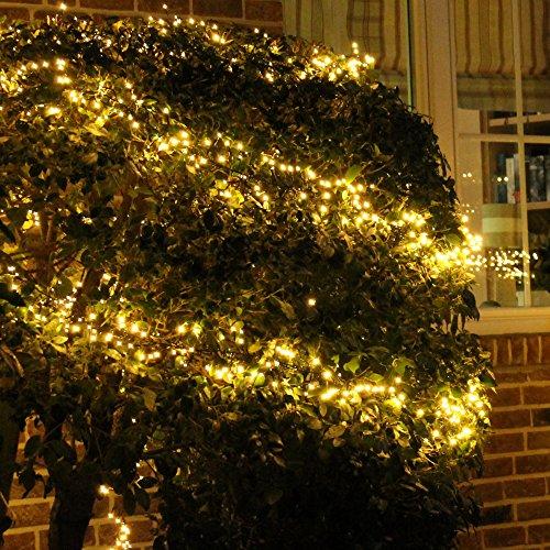 Lichterkette Warmweiß 16m für außen und innen LED Weihnachtsbeleuchtung Strom betrieben Weihnachtsdeko Tannenbaum (800 LED)