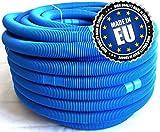 Poolschlauch blau 32 mm, Pool Schlauch für Intex und Bestway Filteranlagen, für Pool und Schwimmbad, 2 x 3,3 m, Gesamtlänge 6,6 m, alle 110 cm teilbar
