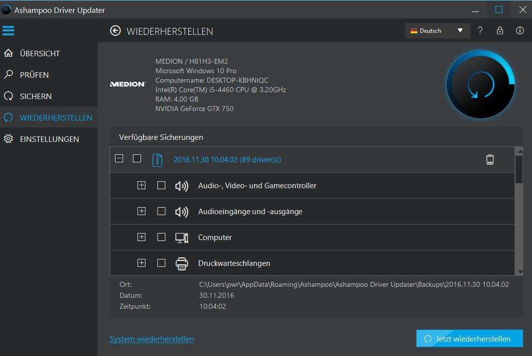 Ashampoo Driver Updater 1.1 - 3 PC 1 Jahr [Download] - 7