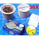 36Bolsas Calcetines Pre Filtro universales para skimmer piscina & Spa Net Skim–Lote de 36piezas