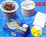 36 Sacchetti Calze Pre Filtro Universali per Skimmer Piscina & SPA Net Skim - Confezione da 36 Pezzi