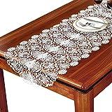 KSWD Dentelle Chemin de Table, Broderie Européen Chemins de Table Blanc,50x120cm