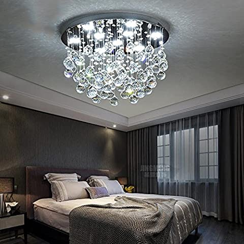 LED plafonnier Flush Mount LED Crystal Ceiling Pendant Lights Caractéristiques modernes / contemporaines pour Crystal Metal prix raisonnable ( Couleur : White light-50cm54W )