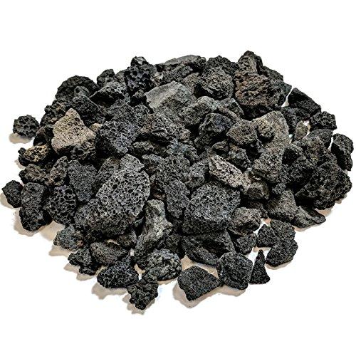 Midwest Herzen Lava Rock für Fire Gruben und Gas-Log-Sets, Schwarz 1/5,1cm zu 2,5cm 10-LB Bag Schwarz -