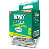 Derby Extra à Double Tranchant de Sécurité Lames de Rasoir Vert, 100 Unités