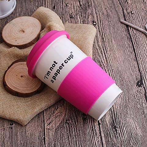 Sproud La Double Marque Tasse, Tasse En Céramique, Amants Café, Lait Tasse,Rose Red