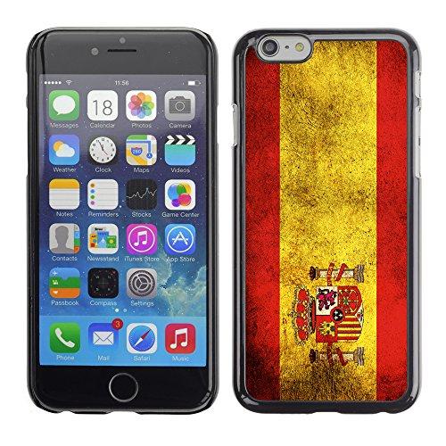 Graphic4You Vintage Uralt Flagge Von Schweiz Schweizer Design Harte Hülle Case Tasche Schutzhülle für Apple iPhone 6 / 6S Spanien Spanisch