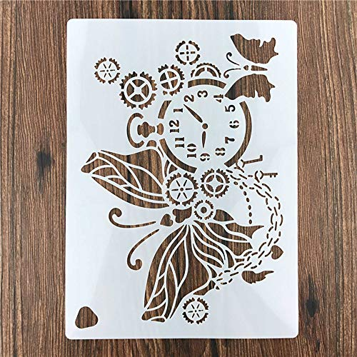 JIALI Printed Butterfly Butterfly Gear Clock Cake Spray Mold, Cake West Point Tiramisu Decoration Tool for Baking