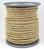 Hanfseil-Sisalseil geflochten - Dekoseil - Durchmesser ca. 6mm - 30 Meter auf Scheibenspule aus Naturhanf und Sisal