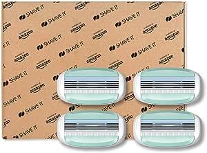 Shave It - Testine 3 lame per rasoio da donna, confezione da 4