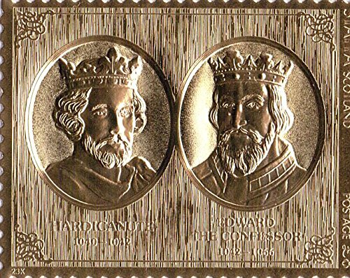 Gold-Briefmarken - Staffa 1977 Königin Silver Jubilee König und König Edward Hardicanute Doppelgold Briefmarke - Hohe Qualität - nie montiert - Postfrisch (Set Sammlung Blatt König)