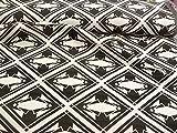 Viskose, grafisches Muster, schwarz, weiß, Polyamid,