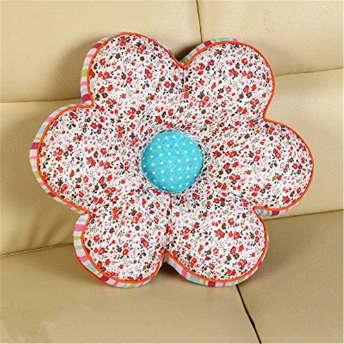 GXY - Coussins de chaise de Forme de pétale / Fesse Coussin de siège en tissu / Oreiller multi-couleurs pastoral pour Bureau Maison (fleurette rouge)