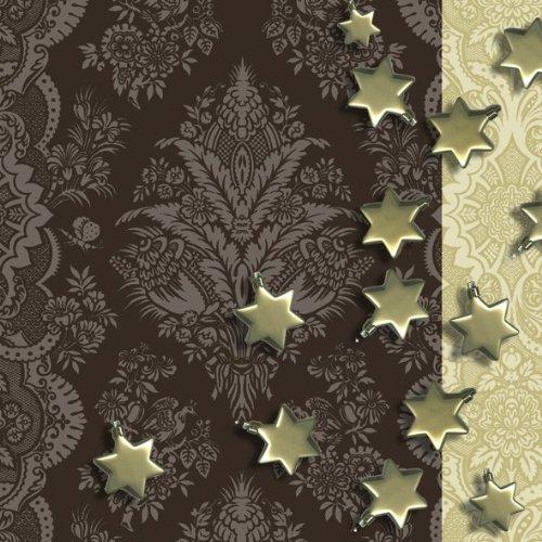 Amscan International ltd Servietten: Party-Servietten, Stars, 33 x 33 cm, 20 Stück Christmas Star Servietten