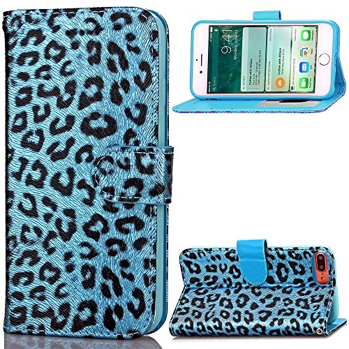 iPhone Case Cover Étui pour iPhone 7 Plus, Étui de protection en couleurs pour imprimantes en couleurs Leopard Étui de protection pour étuis en cuir pour Apple iPhone7 Plus ( Color : 3 , Size : Iphone 4