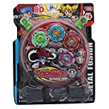 #8: Kingwell Beyblade Set With Ripchord Launcher 4 Tornado Bey Blade Set - Multi Color