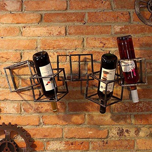 Portabottiglie appendiabiti da terra in ferro battuto portabottiglie portavivande vino da parete cucina in ferro mensola portabottiglie da parete portabottiglie da vino cantinetta portabottiglie