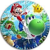 Super Mario Yoshi Wanduhr 25,4cm Nice Geschenk und Raum Wand Decor W69