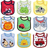 Ateid Baby Waterproof Bibs Absorbent Bibs Pack of...