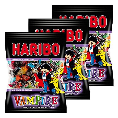 Haribo Vampire (Weingummi + Lakritz, 3 Beutel á 200g)