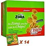 Enervit EnerZona Chips 40-30-30 Gusto Classico, Box da 14 Sacchetti da 23 g