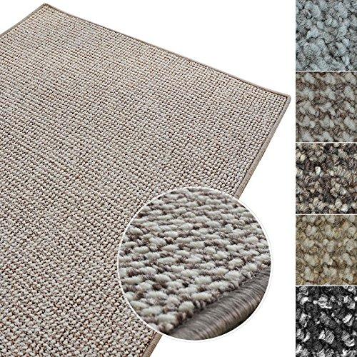 Kurzflor Teppich Carlton | Flachgewebe dezent gemustert | robuster Schlingenteppich in vielen Größen | als Wohnzimmerteppich, Küchenteppich, Schlafzimmerteppich (Grau-Beige - 200x300 cm)