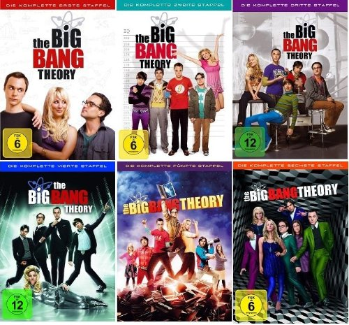 The Big Bang Theory Staffel/Season 1+2+3+4+5+6 * DVD Set - Bang Dvd Theory