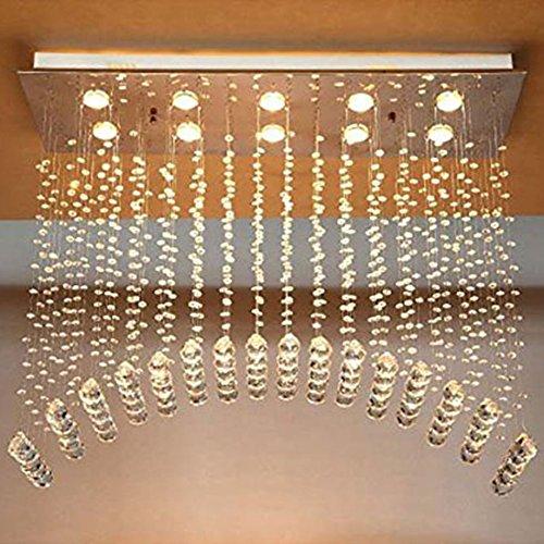 Lustres modernes éclairage arqué Raindrop Salle à manger éclairage L80cm X W30 Cmx H80cm