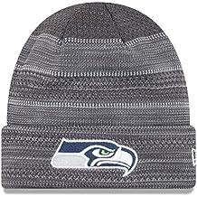"Seattle Seahawks New Era 2017 NFL ""Cold Weather TD"" Knit Hat Hut - Graphite"