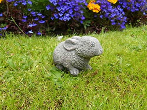 Piccolo coniglio decorazione da giardino/Scultura/Statua in pietra fatto a (Easter Bunny Ornamento)