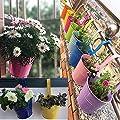 NINGSANJIN 10er Hängetöpfe Set Blumentopf Pflanztopf Blumenübertopf 1pc in 10 Farben Übertopf von NINGSANJIN - Du und dein Garten