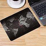 LL-COEUR XXL Gaming Tappetino per Mouse Pad Mappa del Mondo Computer Scrivania Mat (260 x 210 x 2 mm)