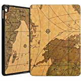 IPad 2 3 4 Case. MOCA Ultra Thin Stand (Retro WORLD MAP) Smart Flip Cover Case For Apple IPad 2 , IPad 3 , IPad 4 Models. A1460, A1459, A1458, A1416, A1430, A1403, A1397, A1396, A1395 Folio Flip Case Cover (MAP - Brown)