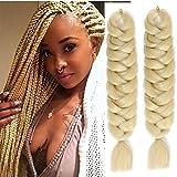 6Packungen 104,1cm 165g eunicehair Ombre Kanekalon Jumbo Zöpfe Afro Crochet Box Flechten Hair Extensions 2Tones Kunsthaar zum Flechten