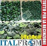ITALFROM Hecke PU Künstliche PU Arelle Blätter D 'Efeu-Fliese 50x 504986