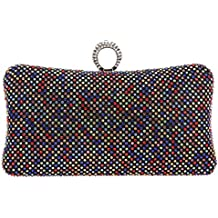Bonjanvye Bling Ring Clutch Purse for Women Rhinestone Clutch Evening Bag