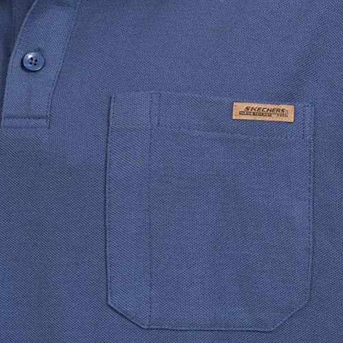 Skechers -  Polo  - Maniche corte  - Uomo Blu crepuscolo