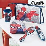 qtimber Trousse de Toilette Enfant pour la Cantine Spiderman (5 pièces) #manufacturer # 14.5 x 23 x 7 cm