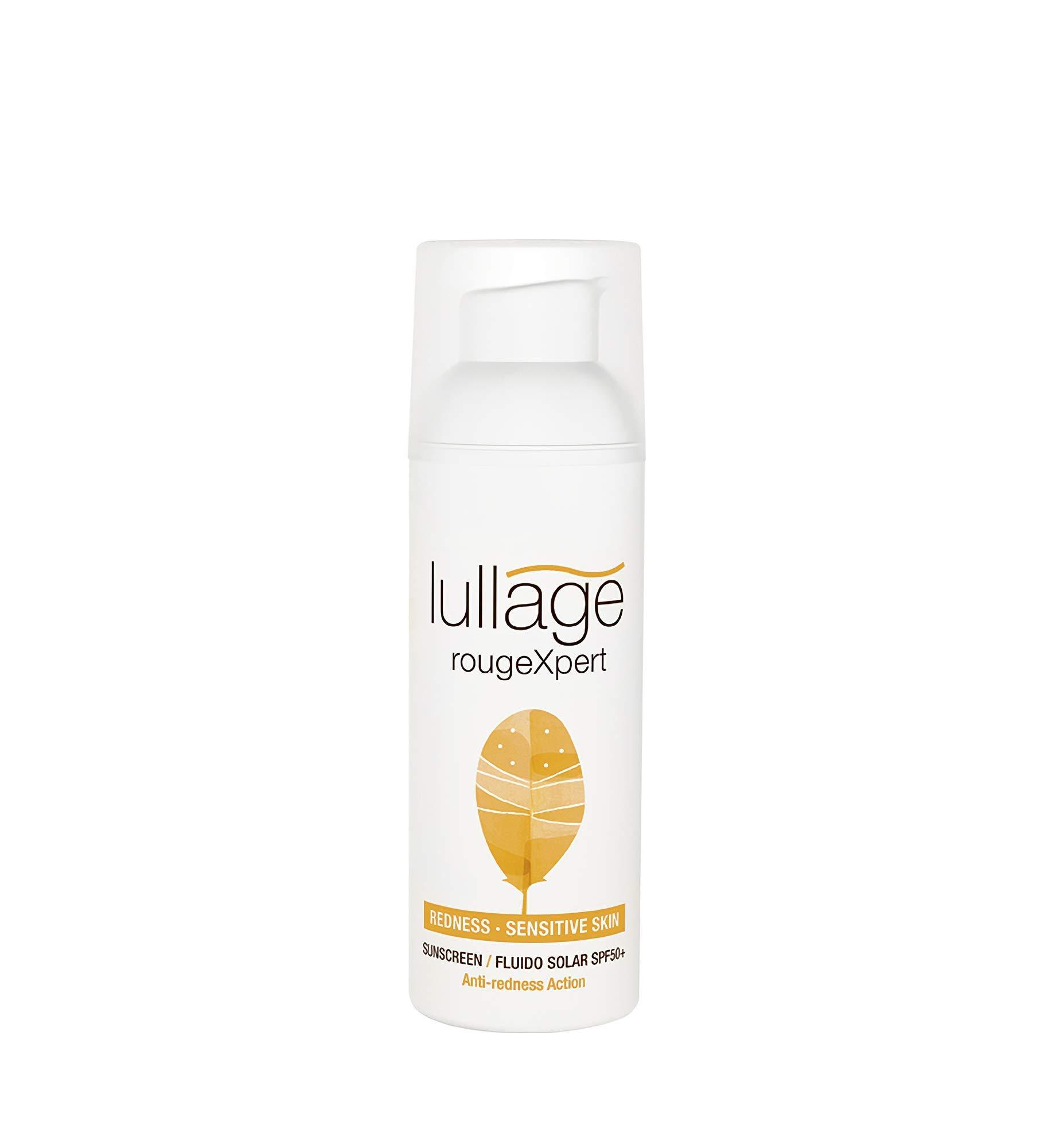Lullage rougeXpert Filtro Solar Facial Anti-Rojeces Calma Irritaciones Ayuda a Cuidar las Pieles más Sensibles de los Efectos del Sol SPF 50+   UVB   UVA   IR, 50 ml