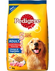 Pedigree Adult Dry Dog Food, Chicken and Vegetables, 3kg Pack