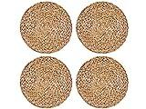 Romote Platzdeckchen aus Wasserhyazinthe, 4 Stück