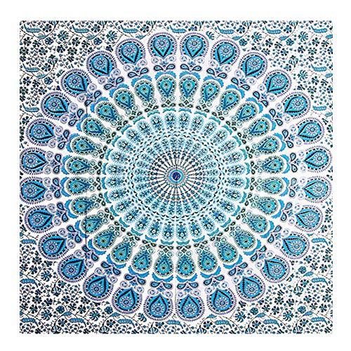 Hemore 218,4x 139,7cm cotone indiano arazzo da parete in cotone indiano camera da letto parete hippie arazzi boemia mandala arazzo per arredamento