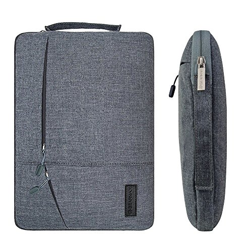 Filz Laptop Hülle Sleeve Ultrabook Tasche - Yarrashop Notebook Einfache Stil Wasserdichte Nylon Stoff Notebook Sleeve für Microsoft Surface Pro 2017, 4/3/2 Macbook Air 11,6 Zoll Gray