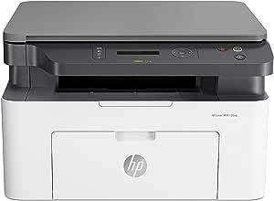 HP LaserJet MFP 135a Stampante Bianco e Nero, solo USB, Laser Multifunzione Monocromatica, Scanner e Fotocopiatrice, Tecnologia ReCP e Risparmio Energetico, Funzionalità di Sicurezza Dinamica, Bianco